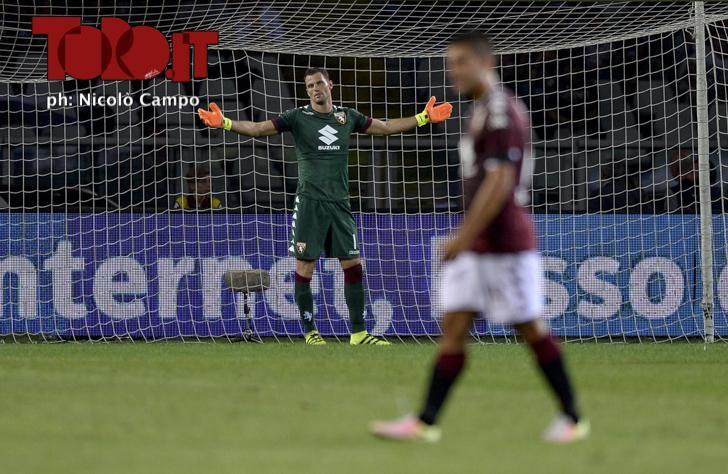 CAMPO, 21.8.16, Milano, stadio Giuseppe Meazza, 1.a giornata di Serie A, MILAN-TORINO, nella foto: Daniele Padelli deluso dopo gol 1-1