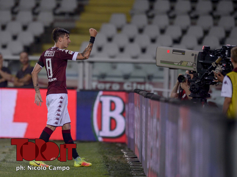CAMPO, 28.8.16, stadio Olimpico Grande Torino, 2.a giornata di Serie A, TORINO-BOLOGNA, nella foto: Daniele Baselli esulta dopo gol 4-1