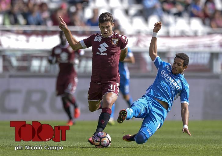 CAMPO, 18.9.16, Torino, stadio Olimpico Grande Torino, 4.a giornata di Serie A,TORINO-EMPOLI, nella foto: Lucas Boye e Andres Tello