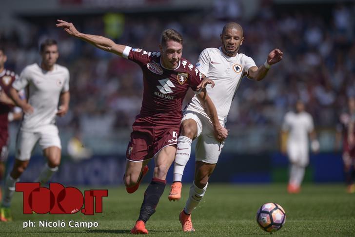 CAMPO, 25.9.16, Torino, stadio Olimpico Grande Torino, 6.a giornata di Serie A, TORINO-ROMA, nella foto: Andrea Belotti e Bruno Peres