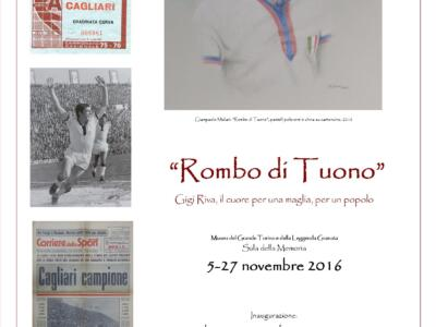 """Gigi Riva protagonista al Museo del Toro: mostra su """"Rombo di Tuono"""""""