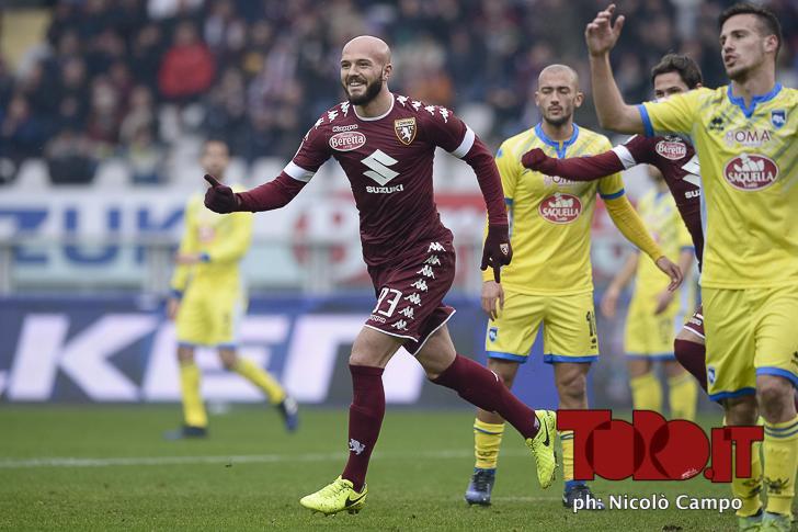 CAMPO, 12.2.17, Torino, stadio Olimpico Grande Torino, 24.a giornata di Serie A, TORINO-PESCARA, nella foto: Arlind Ajeti esulta dopo gol 2-0