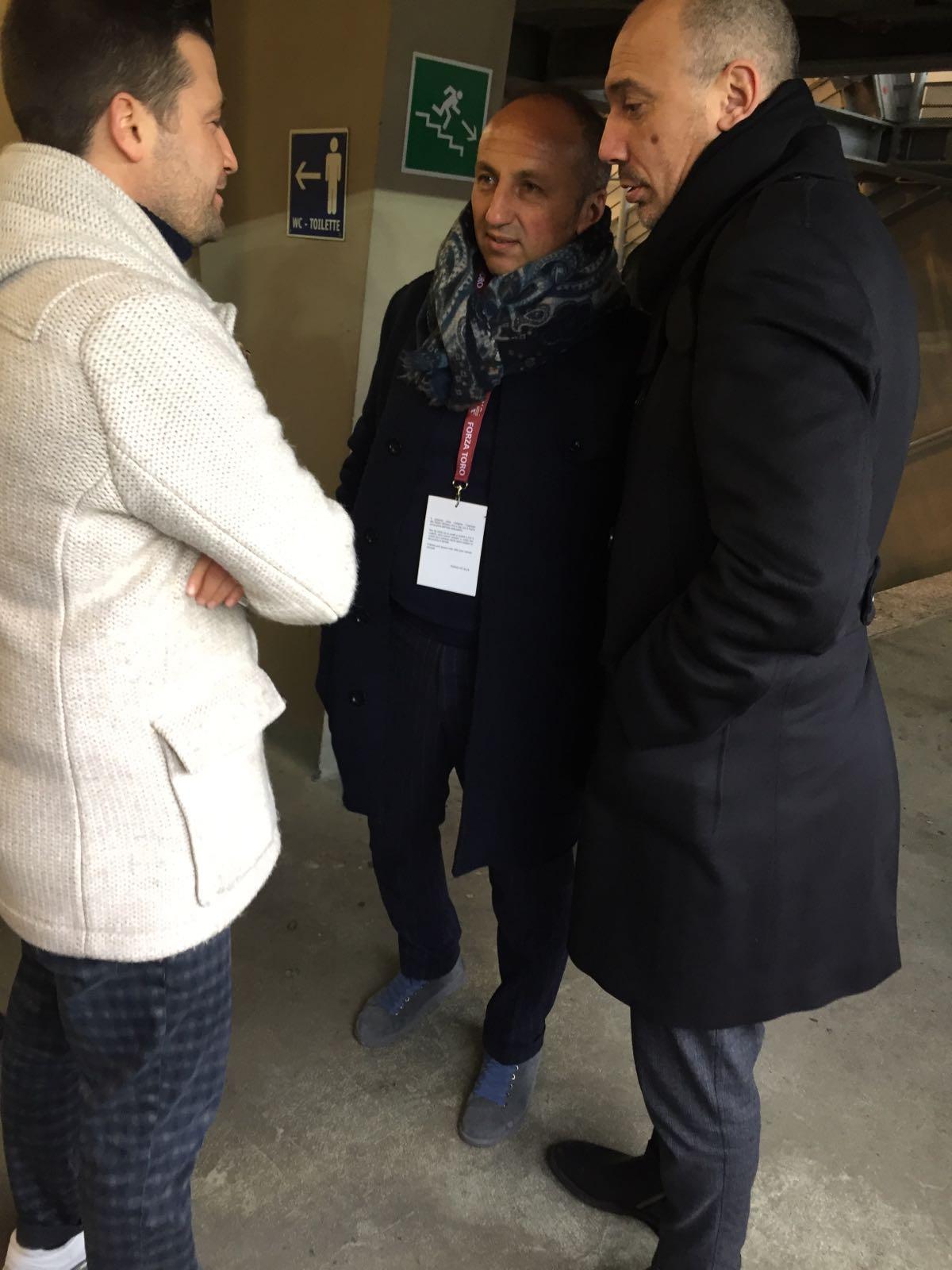 Bava, Sullo e Coppitelli alla partita Torino-Pescara