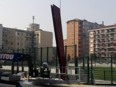 Torino, Stadio Filadelfia: montato il primo pennone commemorativo