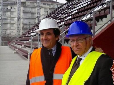 Toro, il presidente Cairo in visita allo Stadio Filadelfia