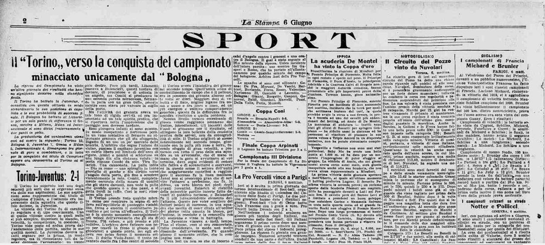 Torino, scudetto revocato 1927