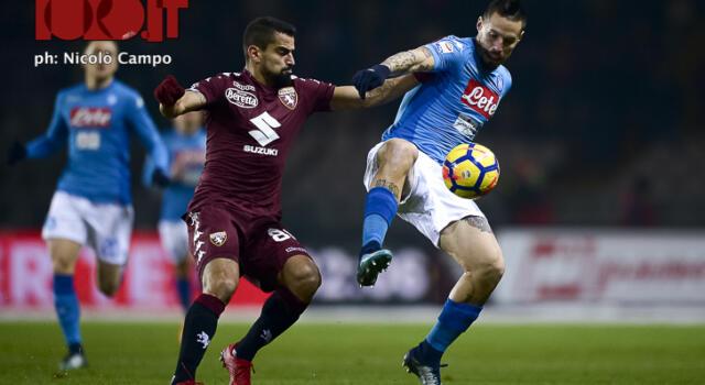 I numeri di Napoli-Torino, granata cinici: 2 gol su 5 tiri