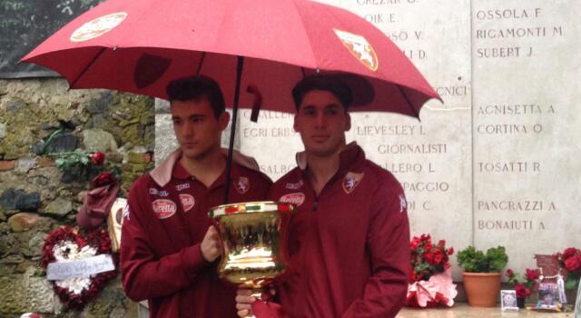 Le giovanili rendono omaggio al Grande Torino, Buongiorno legge i nomi dei caduti
