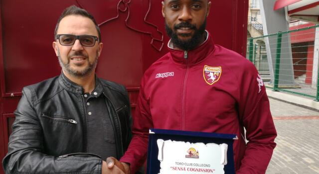 """Toro Club """"Sensa Cognission"""": targa premio a Nkoulou"""