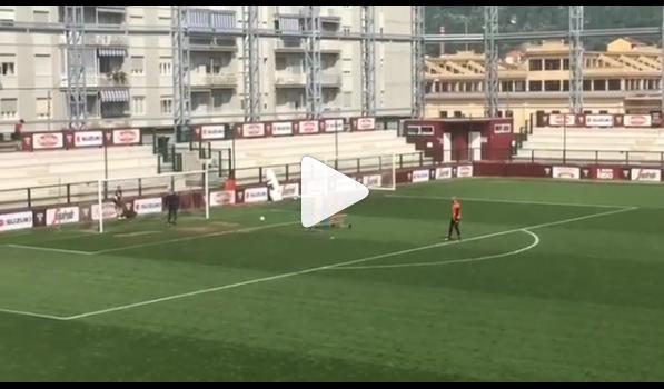 Vanja Milinkovic-Savic, punizione letale: Di Sarno si supera per parare / VIDEO
