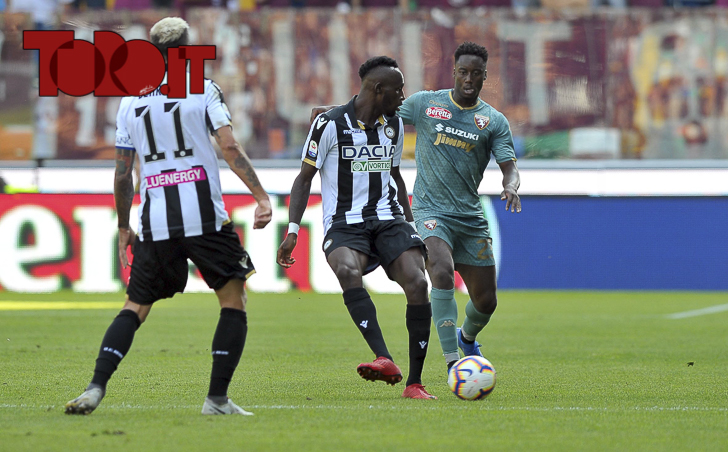 Udinese-Torino 1-1: Seko Fofana e Soualiho Meité