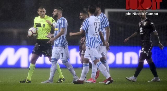 Torino-Spal, arriva una multa per la società ferrarese