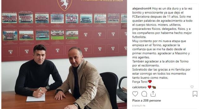 Alejandro Marcos ha firmato: UFFICIALE il suo arrivo al Torino