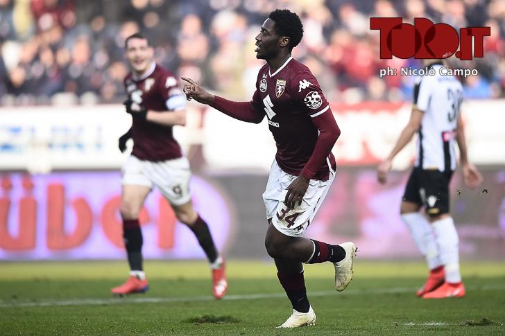 Torino-Udinese 1-0: Aina