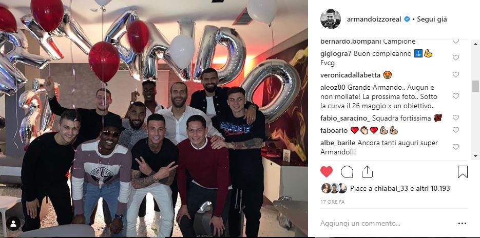Izzo, festa di compleanno