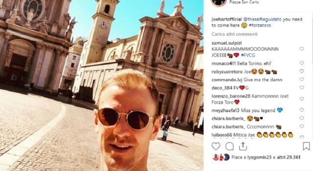 "Joe Hart di nuovo a Torino, ma da turista: ""Forza Toro"""