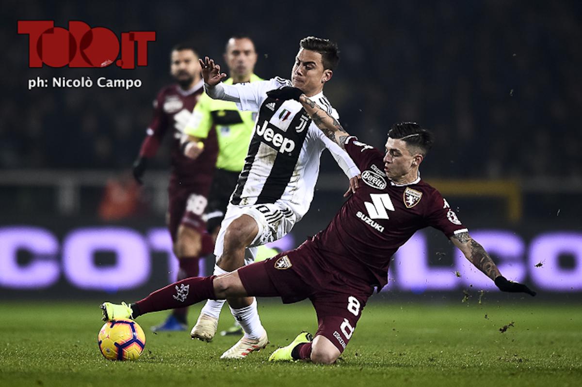 Daniele Baselli e Paulo Dybala in Juventus-Torino 0-1, serie A 2018/2019