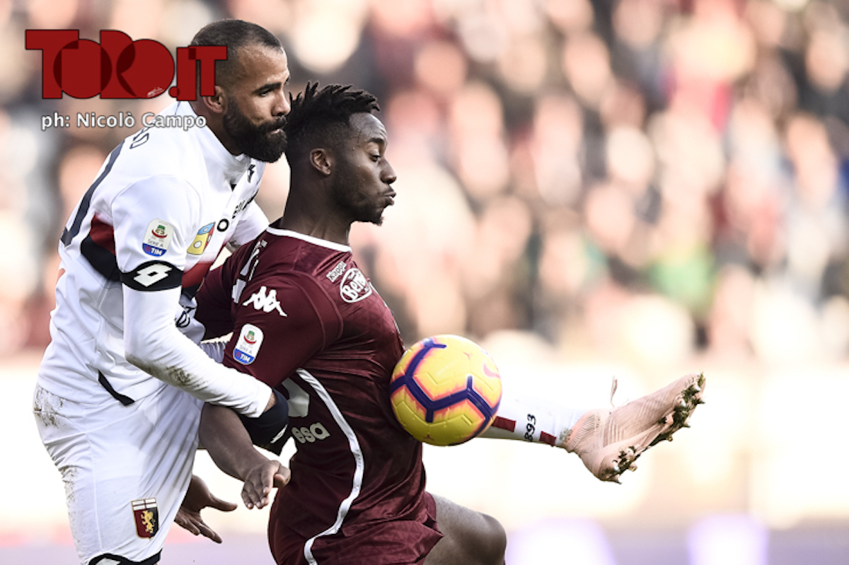 Soualiho Meité e Sandro in Torino-Genoa 2-1, serie A 2018/2019