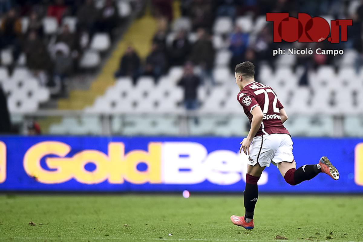 Vincenzo Millico in Torino-Atalanta 2-0, serie A 2018/2019