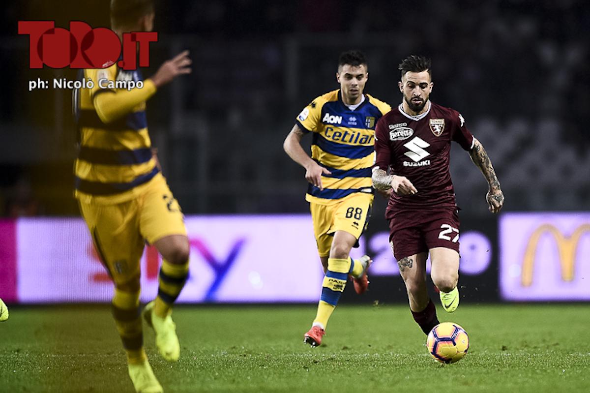Vittorio Parigini e Alberto Grassi in Torino-Parma 1-2