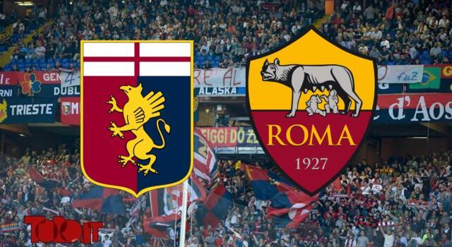 Genoa-Roma 1-1: il tabellino. Giallorossi a più 2 sul Toro