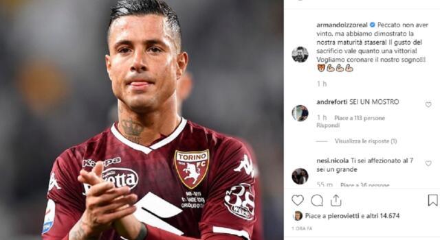 """Il Toro sui social, Izzo: """"Il gusto del sacrificio vale quanto una vittoria!"""""""