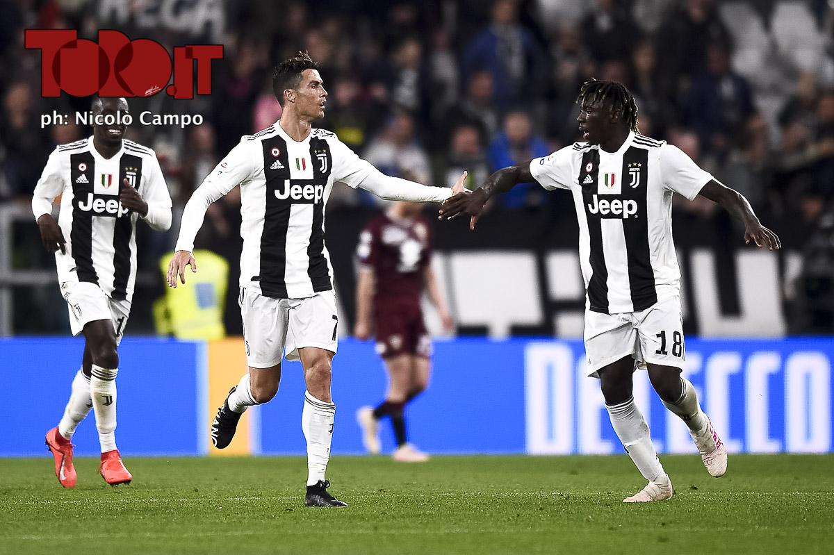 Cristiano Ronaldo e Moise Kean