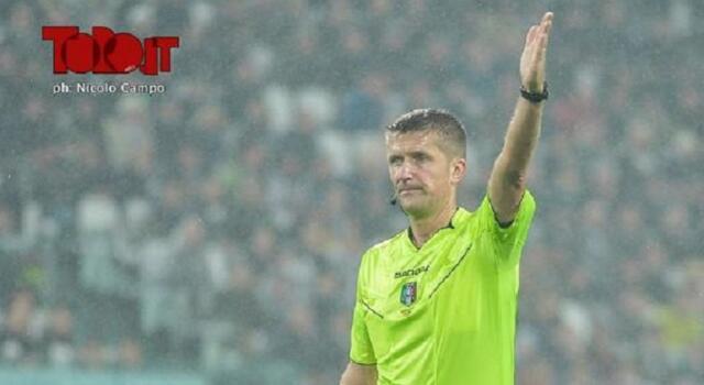 Juventus-Torino arbitra Orsato, al var Giacomelli