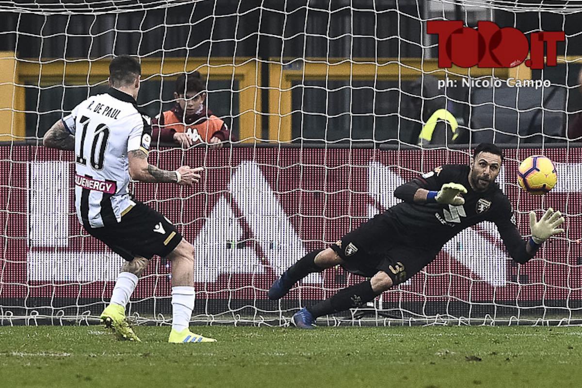 Salvatore Sirigu e Rodrigo De Paul in Torino-Udinese 1-0