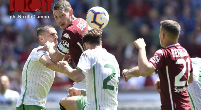 Le pagelle di Torino-Sassuolo: De Silvestri assist-man e trascinatore, il Gallo decisivo