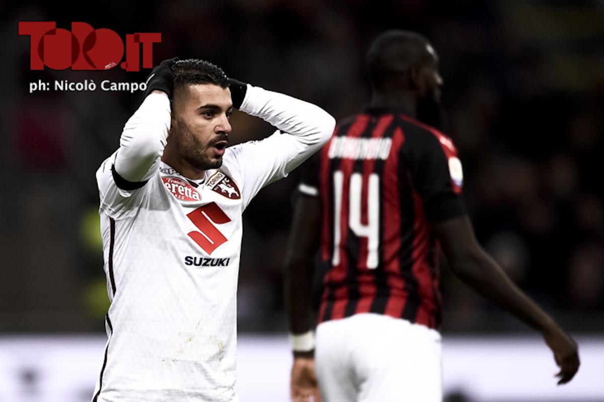 Iago Falque in Milan-Torino 0-0