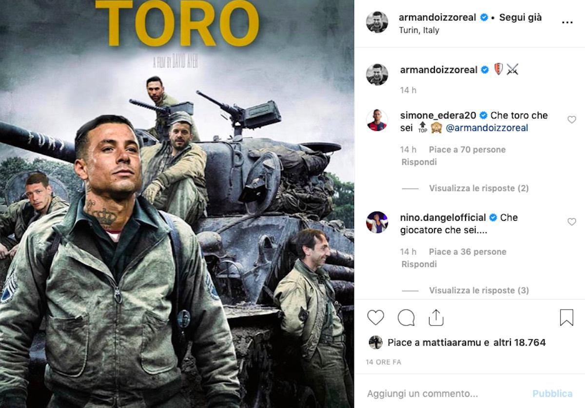 Armando Izzo post Instagram