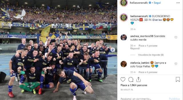 Verona, l'Hellas supera il Cittadella e torna in Serie A