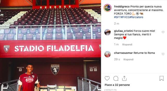 Freddi Greco si aggrega al ritiro del Torino Primavera: il messaggio social