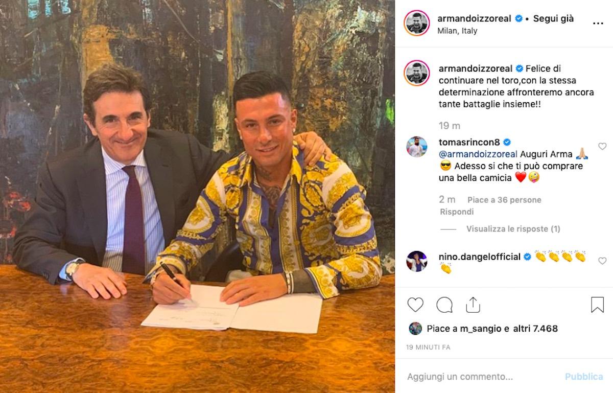 Armando Izzo rinnovo contratto