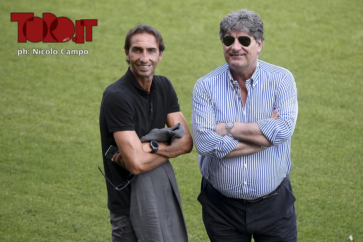 Emiliano Moretti e Antonio Comi