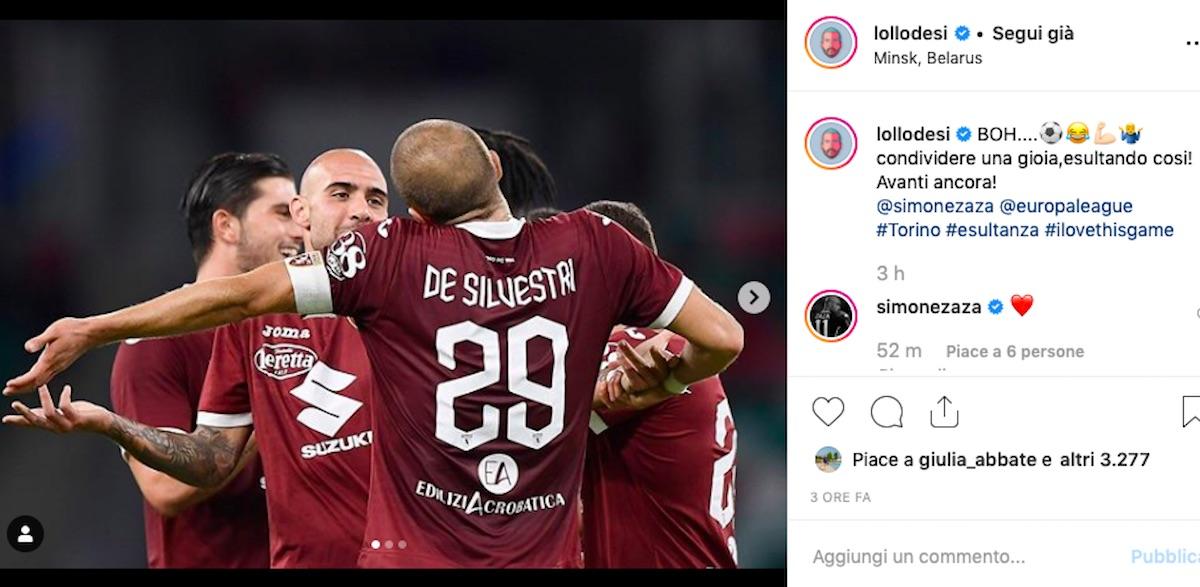 De Silvestri post Instagram