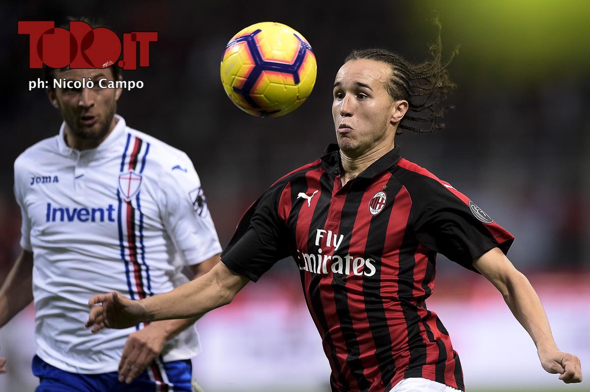 Diego Laxalt in Milan-Sampdoria