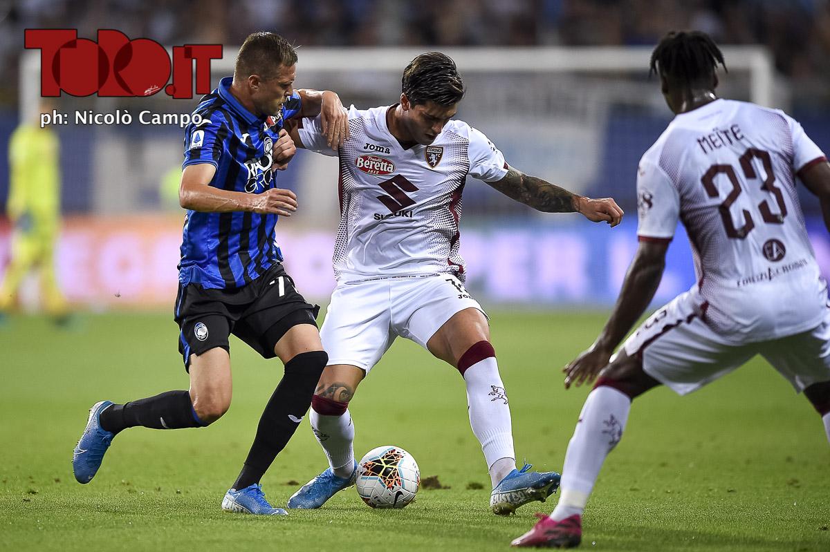 Kevin Bonifazi e Josip Ilicic in Atalanta-Torino 2-3
