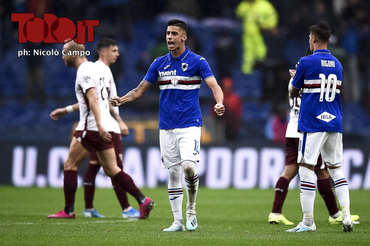 Fabio Depaoli in Sampdoria-Torino 1-0