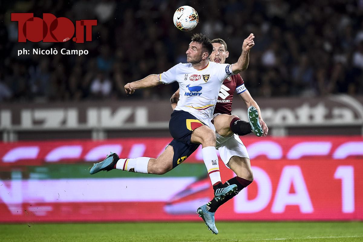 Andrea Belotti e Fabio Lucioni in Torino-Lecce 1-2