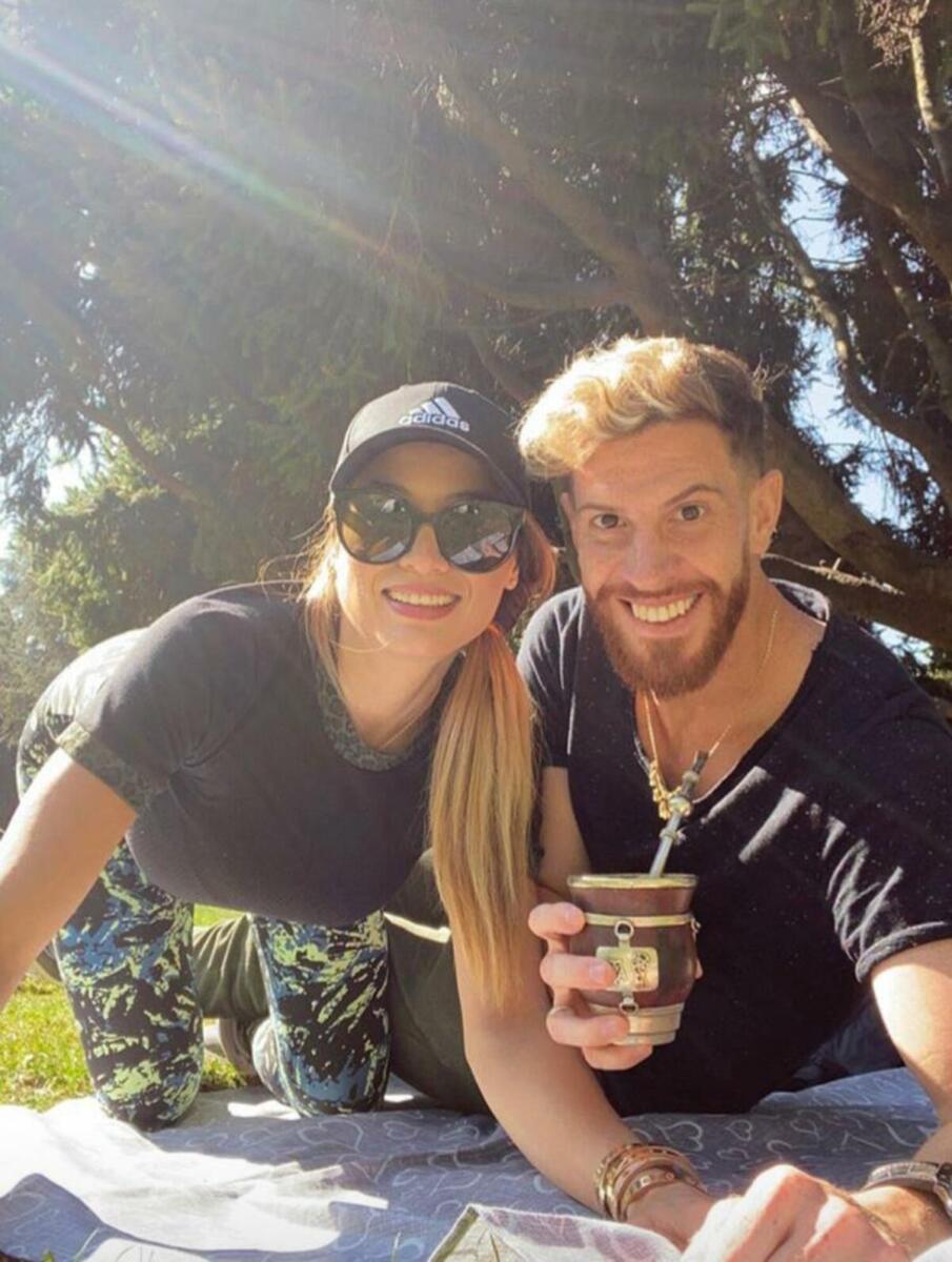 Cristian Ansaldi e la moglie