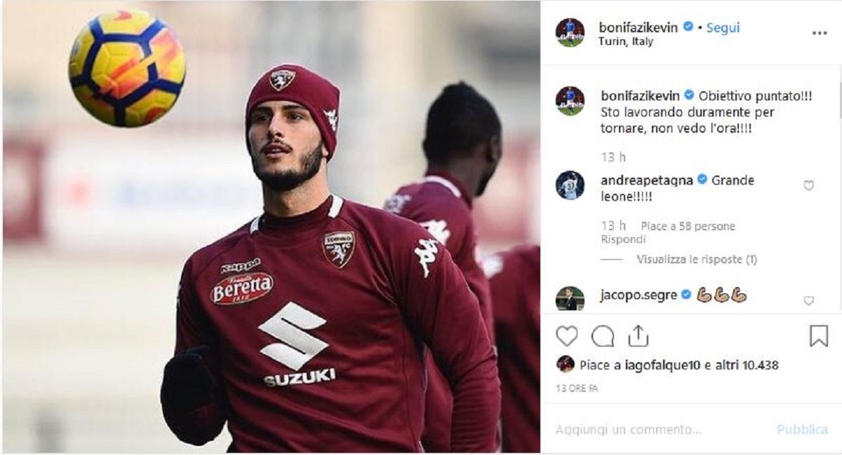 Bonifazi post Instagram