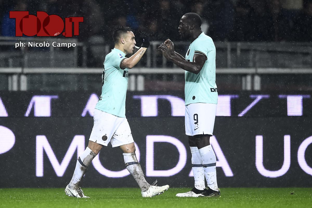 Lautaro Martinez e Romelu Lukaki Inter