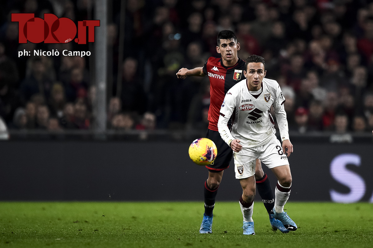 Simone Edera in Genoa-Torino 0-1