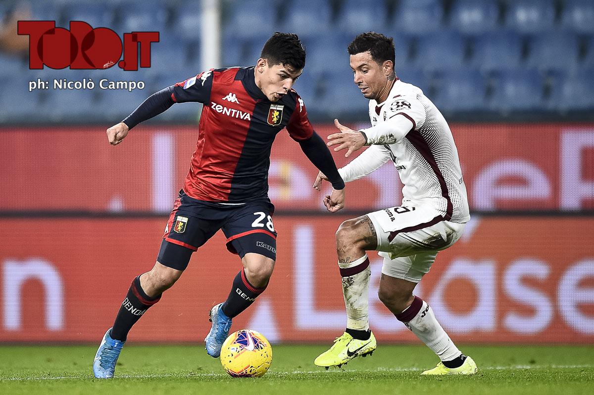 Agudelo e Izzo in Genoa-Torino 0-1