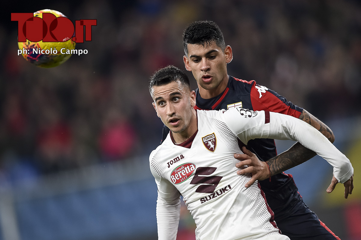 Alejandro Berenguer e Cristian Romero in Genoa-Torino 0-1