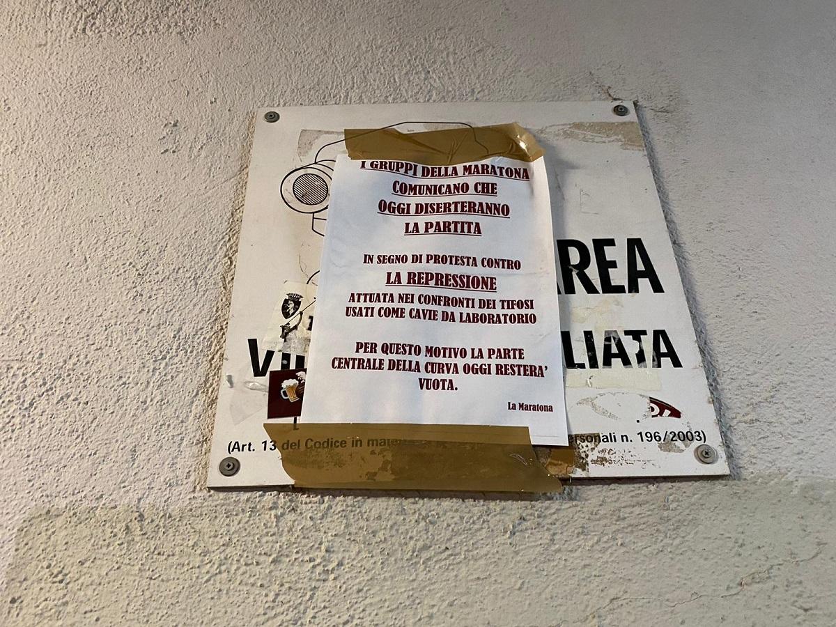 Torino contestazione volantino