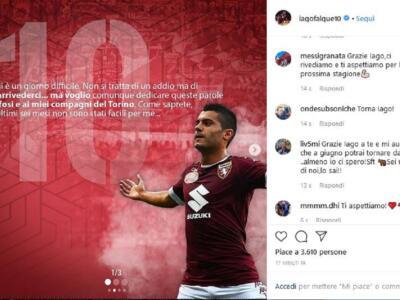"""Iago Falque saluta il Torino: """"Non si tratta di un addio ma è un arrivederci"""""""