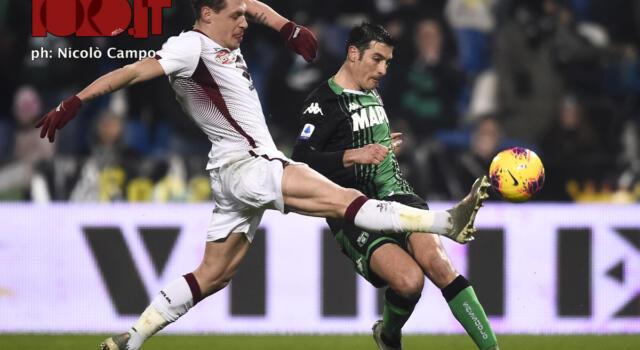 Sassuolo-Torino, una sola vittoria a testa in una storia di pareggi